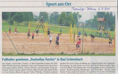 Bad Grönenbacher Footvolley-Turniere
